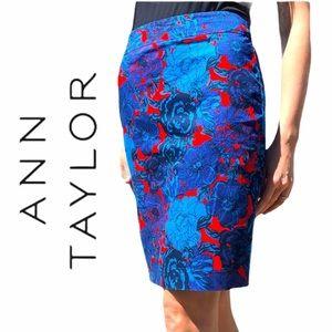 Ann Taylor- Floral Pencil Skirt